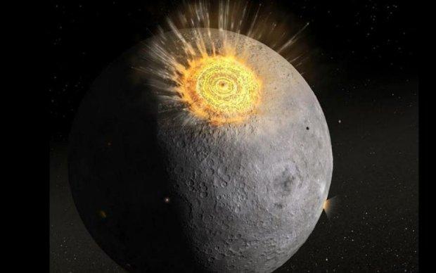 Метеорит продырявил Луну: NASA зафиксировала мощный взрыв