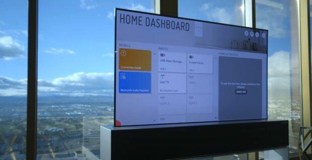 LG tv, скріншот