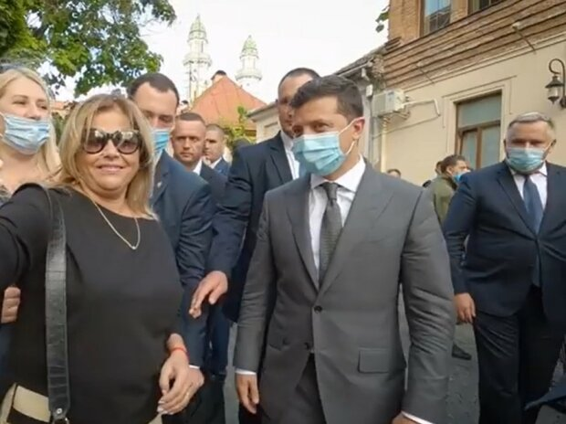Володимир Зеленський на Закарпатті, скріншот
