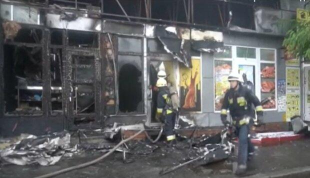 Пожар в центре Днепра, скриншот