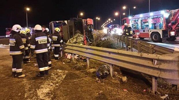 Авария в Польше с украинцами, фото: Twitter