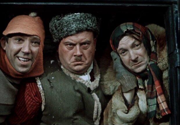 Вицин, Моргунов и Никулин, кадры из фильма