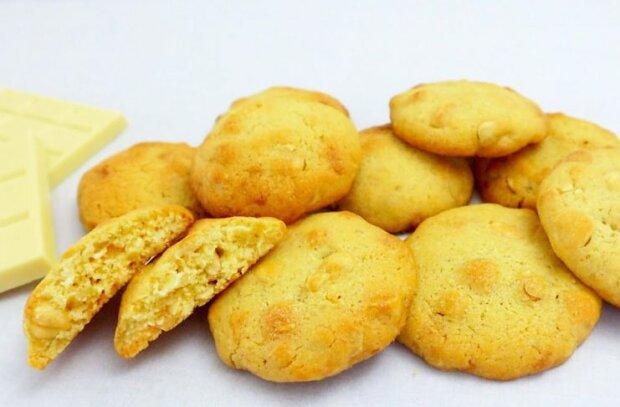 Нежное песочное печенье с орехами и шоколадом - вы забудете о шарлотке