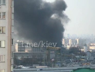 пожежа на Бориспільській, скріншот з відео