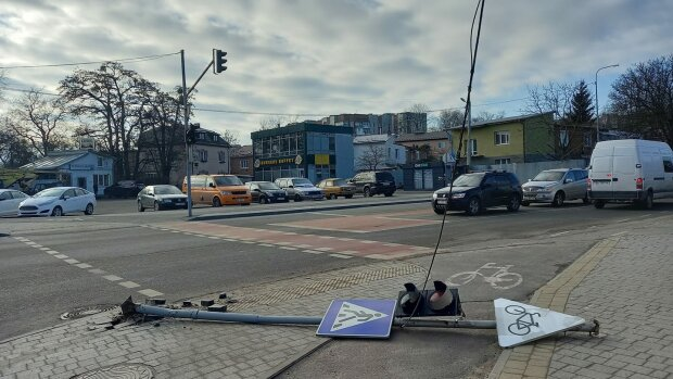 Упал светофор, фото: Svetlana Klochan