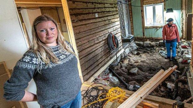 Поховання вікінгів під приватним будинком, фото: nrk