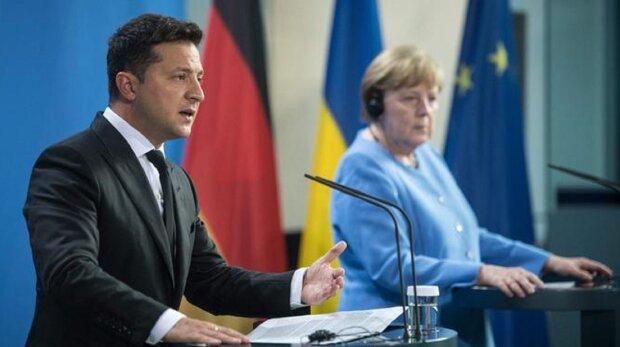 Владимир Зеленский и Ангела Меркель. Фото: DW