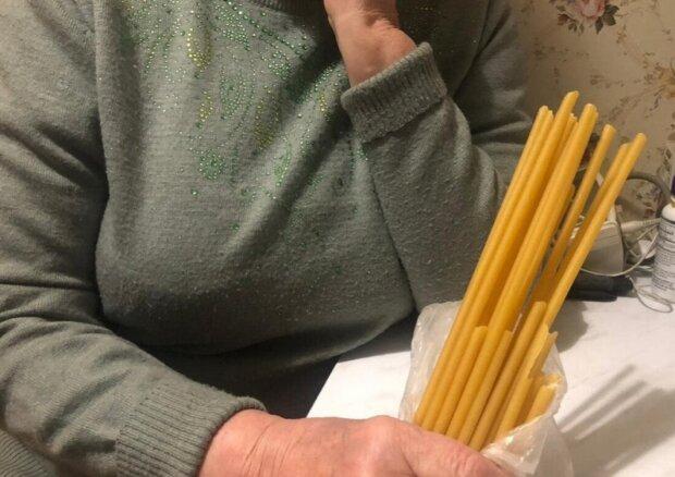 Бог послав: бабусі в церкві замість свічок продали макарони