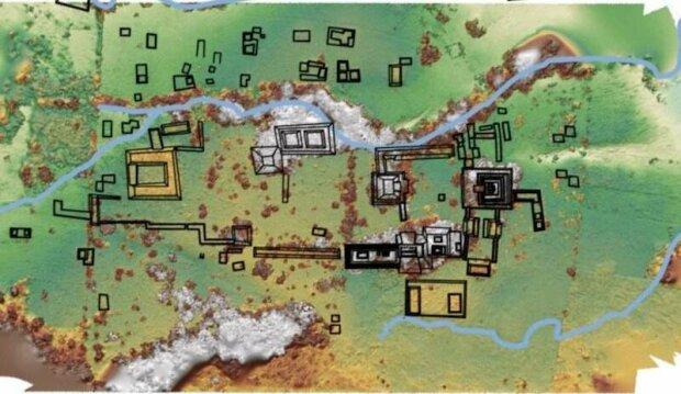 карта королівства майя, фото:heritagedaily