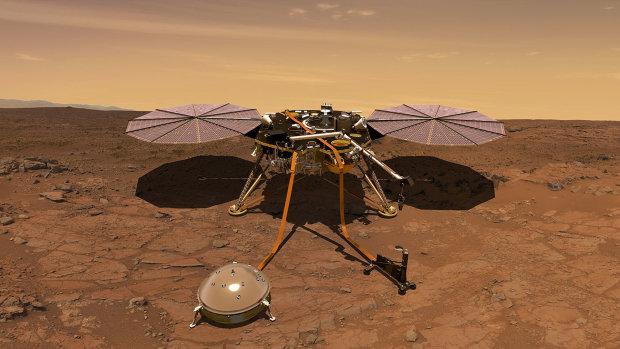 Зонд Insight начал ежедневную трансляцию с Марса. Теперь в любой момент можно узнать, как обстоят дела на Красной планете