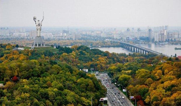 Осенняя красота Киева с высоты птичьего полета (фото)