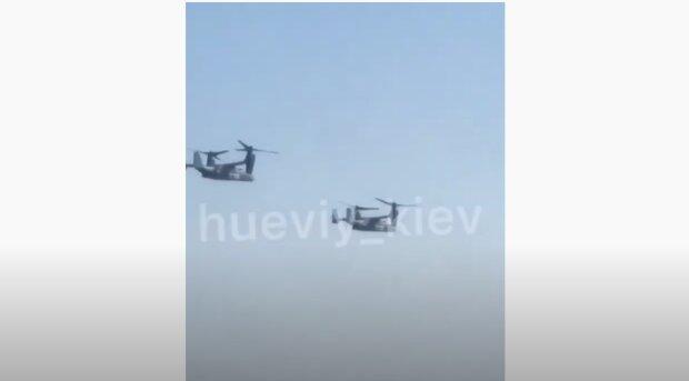 """Над київським небом засікли військові літаки, відео розлетілося мережею: """"Це американці"""""""