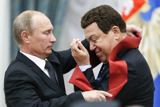 Володимир Путін та Йосип Кобзон