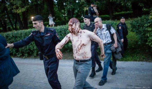 В Москве на «Марше ватников» задержали «Путина» (фото, видео)