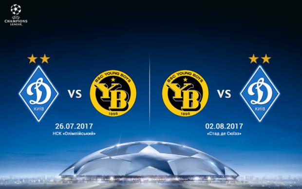 Динамо - Янг Бойз: Кто будет транслировать матчи Лиги чемпионов