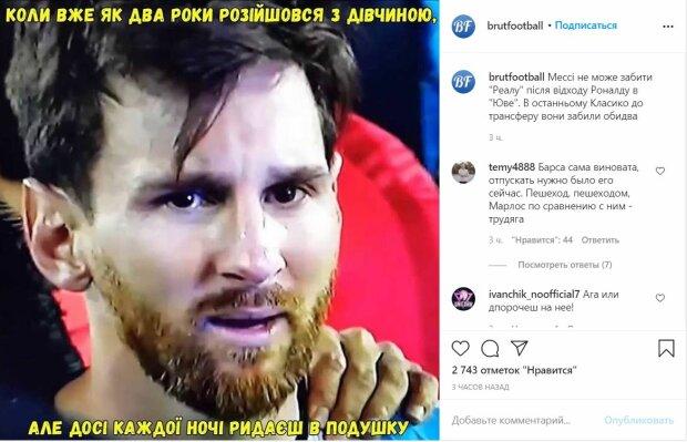 "Публікація ""Брутального футболу"", скріншот: Instagram"