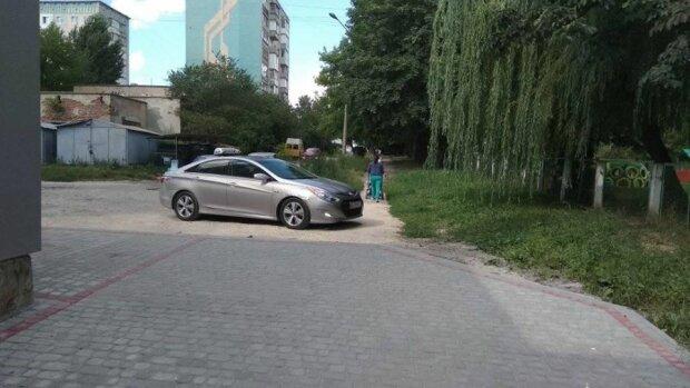 """Тернополяне показали """"оленя"""" на Hyundai – поставил """"корыто"""" на пешеходном переходе"""