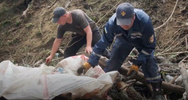 После наводнения на Закарпатье, скриншот с видео