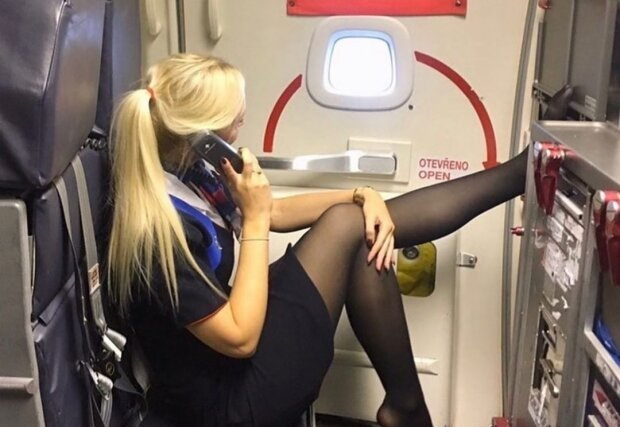 стюардесса, фото с соцсети