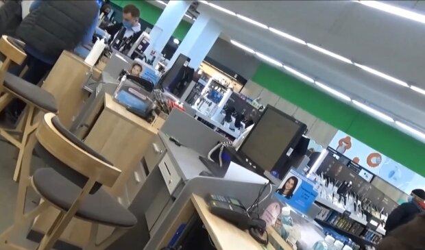 Магазин техніки , скріншот з відео