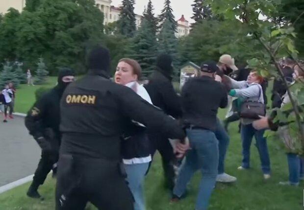 Мітинги у Білорусі, скріншот відео