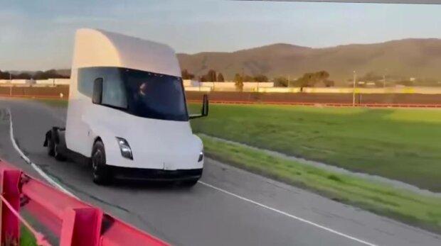 Tesla Semi, фото: скріншот з відео