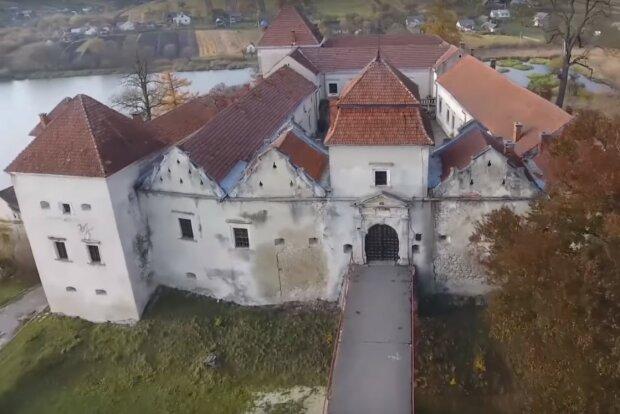 Свиржский замок, Львовская область, скриншот с видео
