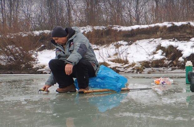 Зимняя рыбалка, скриншот из видео