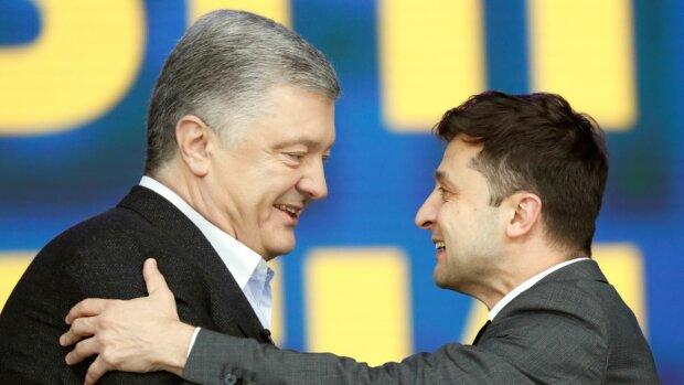 Зеленський і Порошенко на дебатах, фото з вільних джерел