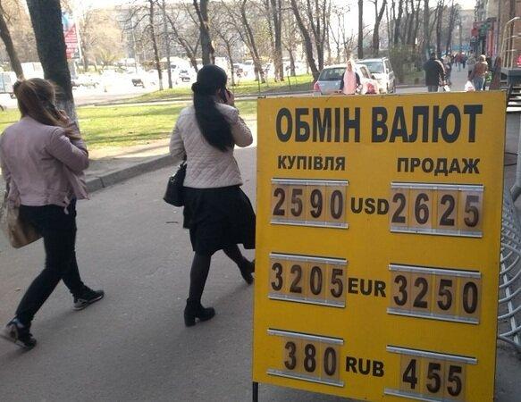 Обмін валют, фото Мінфін
