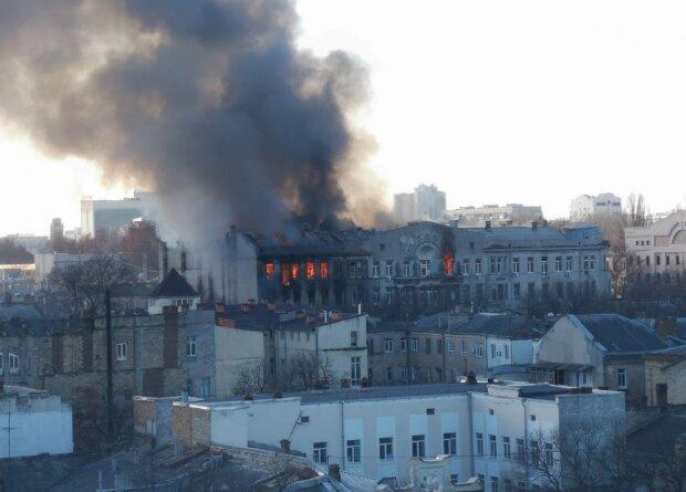 Пожежа в Одесі, Думська