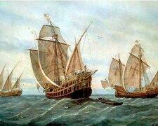 Утонувший корабль времен Колумба