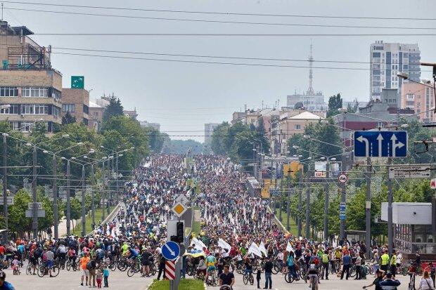 Велодень в Харькове, фото: Telegram ВЕХА (Харьков)