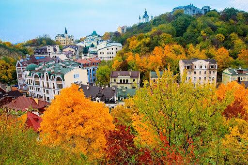 Сентябрь на Подоле, фото КиевВласть
