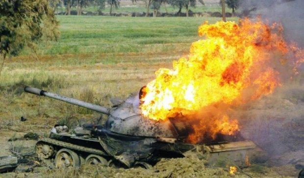 В Днепропетровской области взорвался танк (видео)