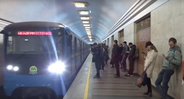 Киевское метро, скриншот из видео