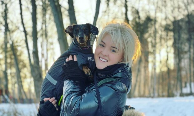 Виктория Ткач с собакой, фото с Instagram