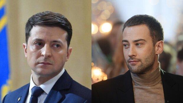Дмитрий Шепелев и Владимир Зеленский, коллаж