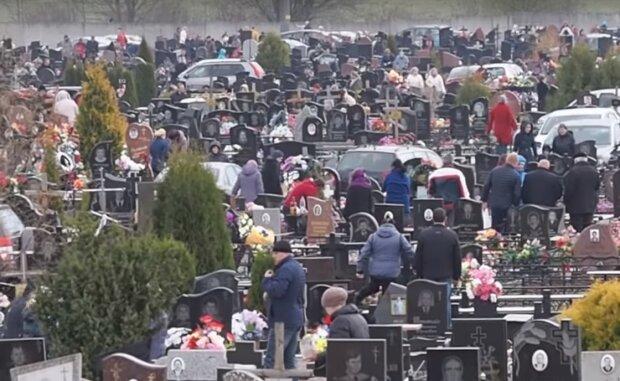 кладбище, скрин из видео