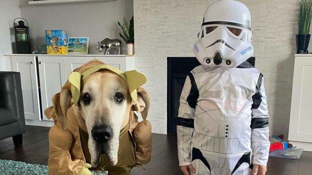 Дитина і собака, фото: Instagram