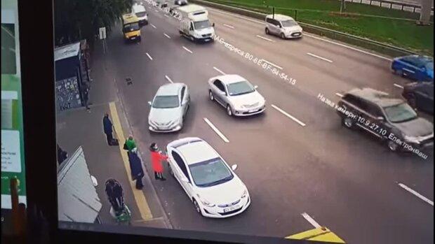 Момент ДТП / скріншот з відео