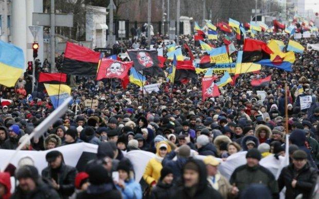Марш на підтримку Саакашвілі в Києві: онлайн-трансляція