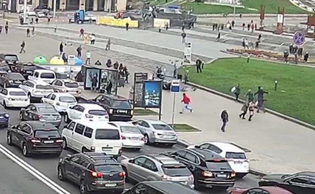 ДТП на Майдане, скриншот: Youtube