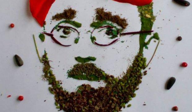Киевлянка делает портреты мужчин из зелени (фото)