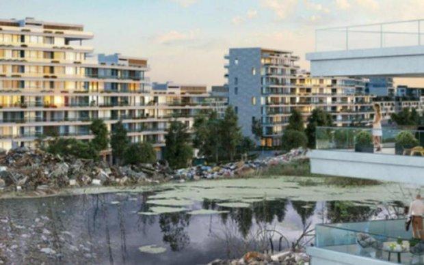 Коррупционеры пролоббировали строительство высоток скандальных застройщиков на болоте в Подгорцах