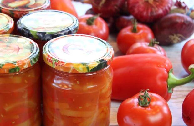 Лечо з перцю і помідорів, скріншот: YouTube