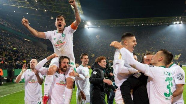 Вердер в матче-триллере выбил из Кубка Германии Боруссию