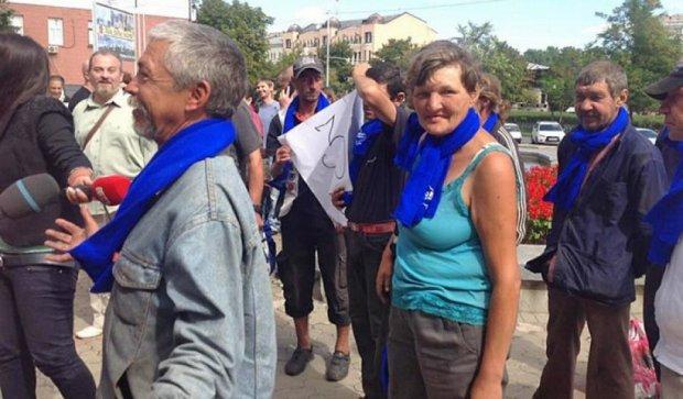 «Бомжи» Филатова хотели сорвать митинг против переименования Днепропетровска