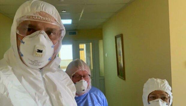 Виталий Кличко в Александровской больнице - скриншот с видео