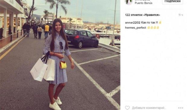 Дружина Реброва сходила на шопінг в Іспанії (фото)